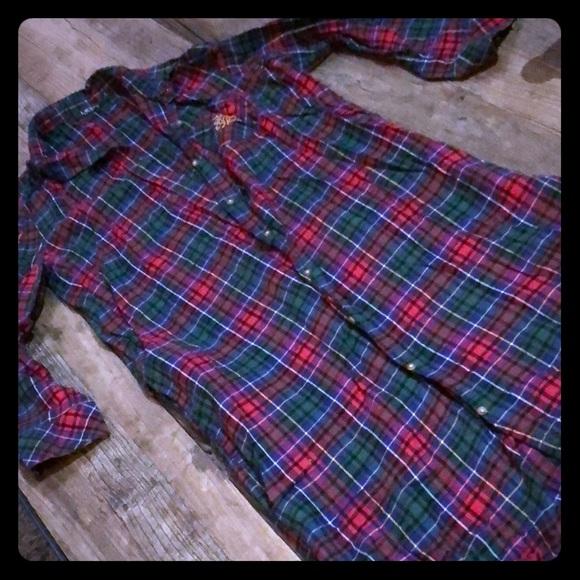 Ralph Lauren Other - Ralph Lauren plaid long button you gown